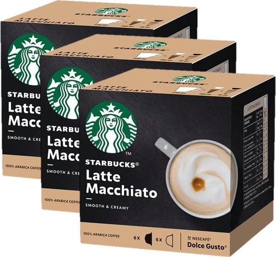 Starbucks® Latte Macchiato koffie cups by Nescafé® Dolce Gusto® - 3 x 12 capsules