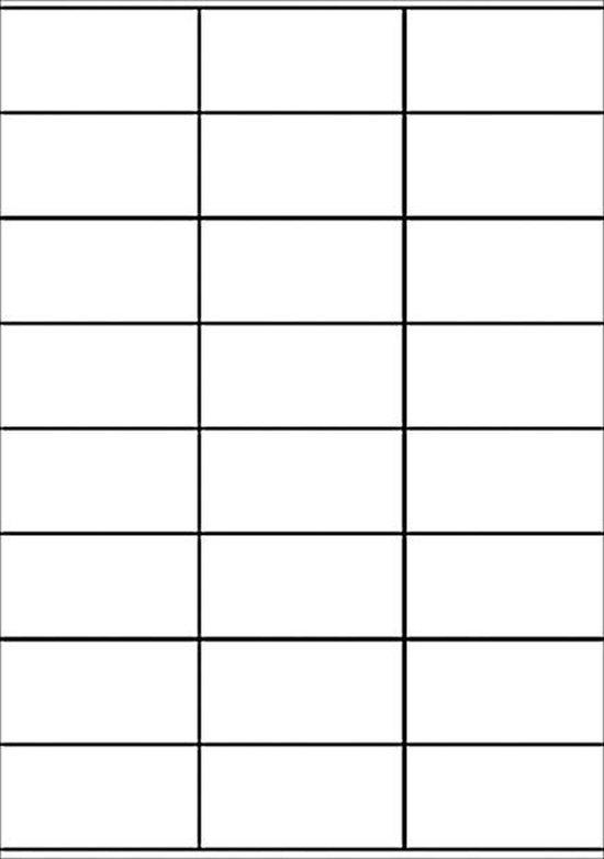 Avery witte etiketten QuickPeel  formaat 70 x 36 mm (b x h) 2.400 stuks 24 per blad doos van 100 blad