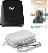HP Sprocket Plus - Mobiele Fotoprinter - Zwart + (Papier 2LY72A + Cover 4NC17)