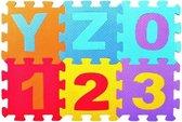 Mini 86-delige foam puzzelmat - Compacte Speelkleed voor Kinderen - Complete Alfabet + Cijfers - Leerzame Speelmat -  93x93 CM