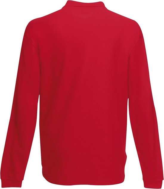 Fruit Of The Loom Polo Met Lange Mouwen Rood L