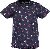 Blue Seven Meisjes T-shirt - Donkerblauw - Maat 74