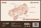 Robotime Modelbouwpakket Army Jeep 18,9 Cm Hout 369-delig
