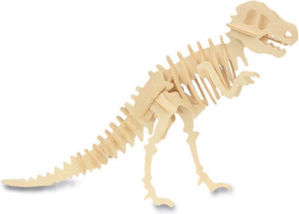 Bouwpakket 3D Puzzel Dinosaurus Tyrannosaurus - hout