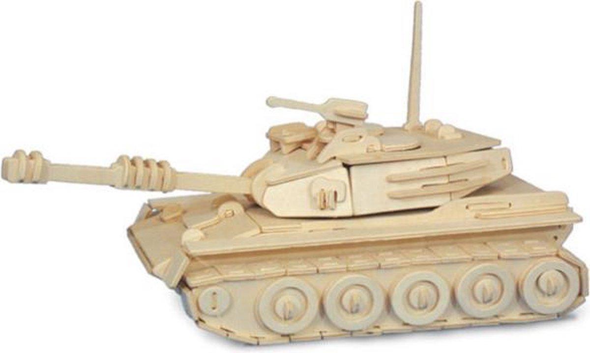 Bouwpakket 3D Puzzel Tank - hout