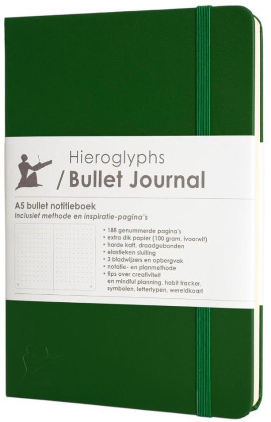 Boek cover Hieroglyphs Bullet Journal  -   Hieroglyphs Bullet Journal van  (Hardcover)