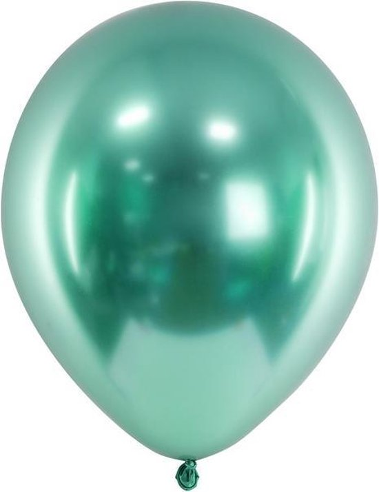 Ballonnen CHROME Groen 50 stuks