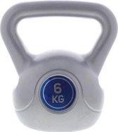 1 x Kettlebell 6 kg – Gewichten – Grijs/Blauw – Fitness – Krachttraining – 1 x 6 kg