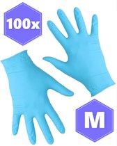 Nitril handschoen - Medische Handschoenen - Wegwerp handschoentjes - 100% latexvrij - Poedervrij pearl - 100 stuks -  maat M (Medium)