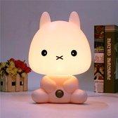 Schattig Konijn Nachtlampje - Kinderlamp - Babykamer Nachtlamp - Cute Cartoon Bunny Night Light - Baby and children's Room LED Night Light Lamp - LED Konijn Nachtlamp - Schattig Haas Lampje - Nachtlamp - Rabbit Nightlight Lamp