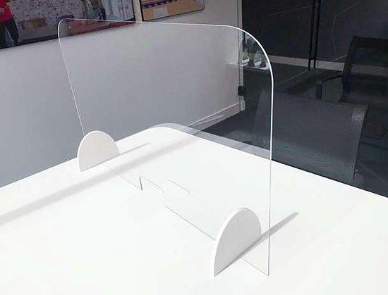 Spatscherm 100 CM x 75 CM | Preventiescherm | Baliescherm | glas scherm | Hygienescherm | Smalle opening | Kuchscherm