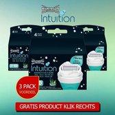 Wilkinson Intuition Naturals Sensitive Care Scheermesjes - 3 Navulverpakkingen + Wilkinson Wegwerpmesjes Men – Extra 2 Precision 5 Stuks.