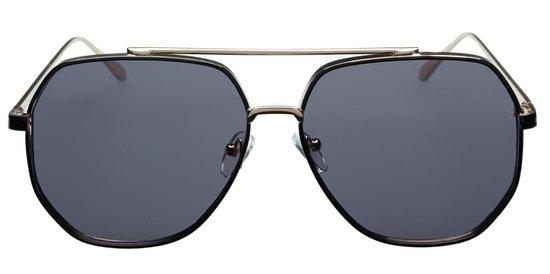 Icon Eyewear Zonnebril T-HEADS - Goudkleurig met zwart montuur  - Grijze glazen