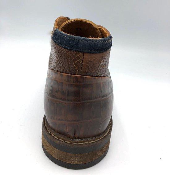 Australian Jersey Leather Tan-Choco - Maat 40