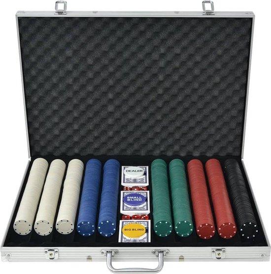 Afbeelding van het spel Pokerset met 1000 chips aluminium