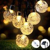 OMERIL Led-lichtsnoer voor buiten, met 50 kristallen bollen, 8 meter, USB-lichtsnoer voor tuin, bomen, slaapkamer, kinderkamer, bruiloften, feestjes enz. [Energieklasse A+++]