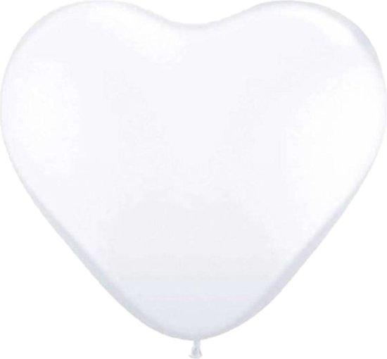 Ballon Hart Wit 30Cm 8 Stuks