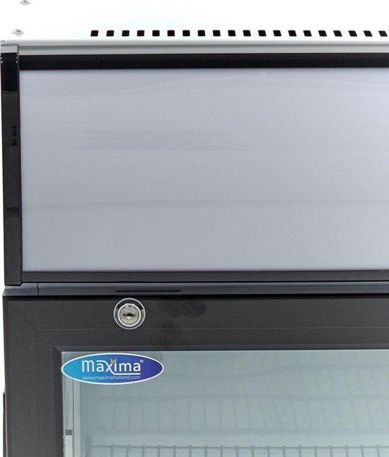 Koelkast: Displaykoeler / Blikjes Koelkast / Flessenkoeler 50L, van het merk Maxima