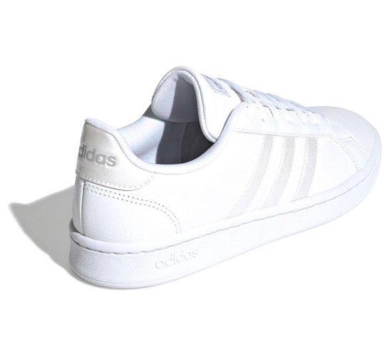 adidas Grand Court Sneakers - Maat 41 1/3 - Vrouwen - wit/ zilver
