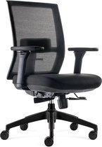 BenS 835-Ergo-4 Ergonomische bureaustoel met alle instel opties, ook lendensteun - voldoet aan EN1335 en de Arbo-normen - Zwart