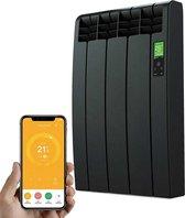 Elektrische Radiator Wifi Grafiet - Smartcontrol via app - Energiebesparende functies - Laag verbruik - Realtime consumptie - 3 elementen - 330 W - Zuinigste Radiator