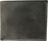 Lundholm leren portemonnee heren leer antraciet - compact model - cadeau voor man