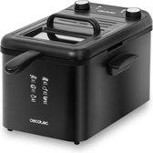 Cecotec Frituurpan 4 liter - Frietpan met Timer - OilCleaner Filter - Anti geurfilter - Deksel met kijkvenster - Zwart