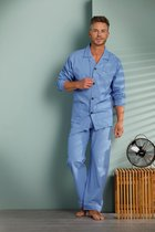 Robson heren pyjama doorknoop