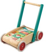 Tender Toys Loopwagen Hout Junior 42 X 28 X 42 Cm 30-delig