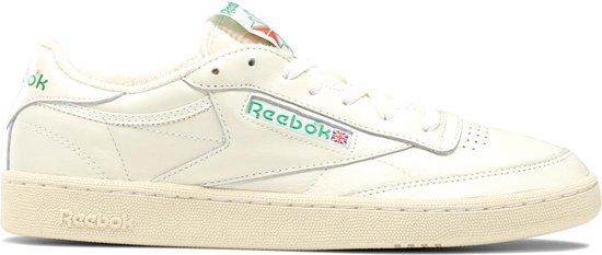 Reebok Club C 85  Sneakers - Maat 39 - Unisex - crème/groen