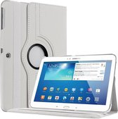 Samsung Galaxy Tab 4 10.1 T530 Tablet draaibare case cover hoes Wit