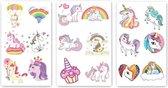 Plaktattoo – Plaktattoo Unicorn – 54x – Plaktattoo Voor Kinderen – Tattoo Stickers – Eenhoorn Plaktattoo – Nep Tattoo