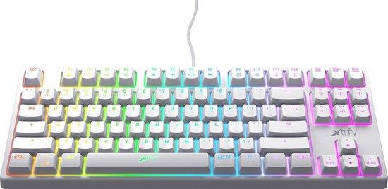 Xtrfy K4 TKL Mechanisch Gaming toetsenbord met RGB US Layout Wit