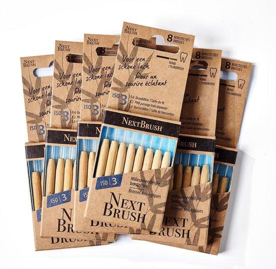 NextBrush bamboe ragers 3,0 mm - 48 stuks (ISO 3)