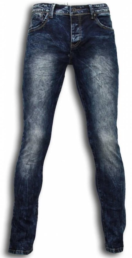 True Rise Exclusieve Jeans - Slim Fit Washed Look Blauw Heren W33