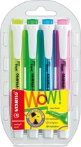 STABILO Swing Cool Highlighter - Etui 4 stuks