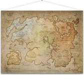 Gaya Entertainment The Elder Scrolls Online Wallscroll Map van hoogwaardig bedrukt polyester canvas