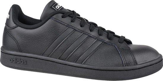 adidas Grand Court EE7890, Mannen, Zwart, Sneakers maat: 46 2/3 EU