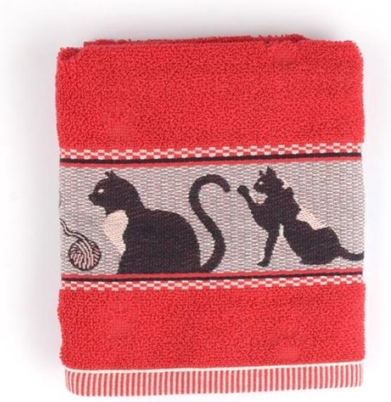 Bunzlau Castle keukendoek Cats Red