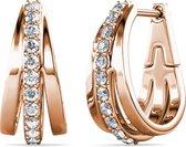 Yolora dames oorbellen met Kalpa Camaka kristallen – Roségoud verguld – YO-432