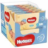 10x Huggies Billendoekjes Pure 99% Water 56 doekjes