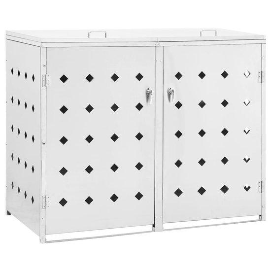 vidaXL Containerberging viervoudig 240 L roestvrij staal