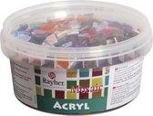 Mozaiek steentjes diverse kleuren 600 gram - Hobbyartikelen/knutselspullen