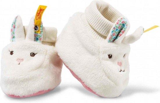 Afbeelding van het spel Steiff Blossom babies konijn booties 10 cm. EAN 241345
