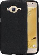 Wicked Narwal | Sand Look TPU Hoesje voor Samsung Galaxy J2 2016 J210F Zwart