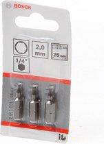 Bosch - BIT 1/4XH-TORS/IS 2 /3 - 3 stuks