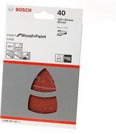 Bosch - 10-delige schuurbladset 102 x 62, 93 mm, 40