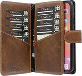 iPhone 11 Bookcase hoesje - Pierre Cardin - Effen Bruin - Leer