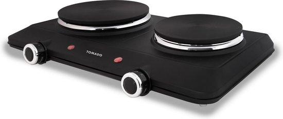 Bol Com Tomado Teh2001b Elektrische Kookplaat 2 Pits 750 En 1500 Watt Zwart