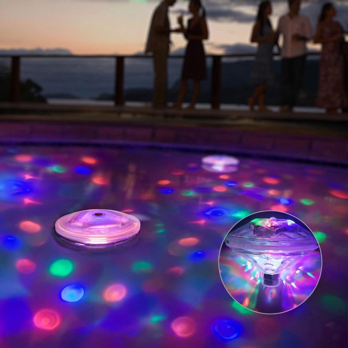 KENN Onderwater Lichtshow - 8 Standen - Led Onderwater Lamp - Underwater Lightshow - Waterdicht - Zwembadverlichting - Badspeeltje - Drijvende Discolamp